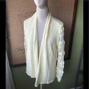 New yellow Eileen Fisher linen cardigan S
